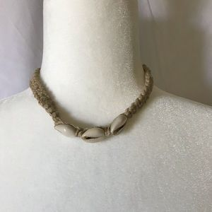Shell & Woven Rope Necklace
